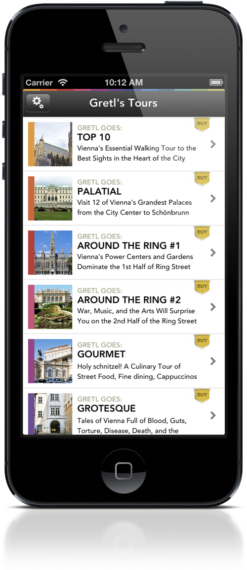 Gretl Goes: Vienna tours menu_iPhone