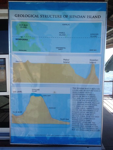 Map of Sipadan the island