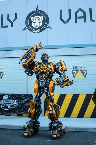 Transformers: The Ride 3D characters and Supply Vault store