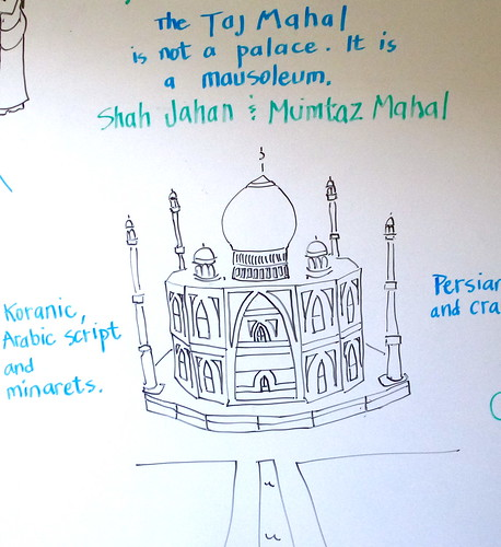 Taj Mahal sketch by trudeau