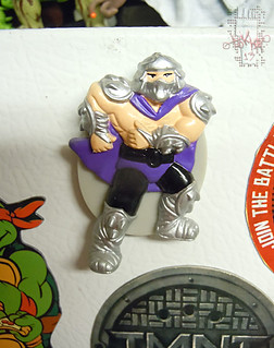 "HOPE INDUSTRIES ""TEENAGE MUTANT NINJA TURTLES"" Magnets :: SHREDDER magnet (( 1988 ))"