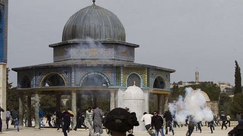 Al-Aqsa Mosque in Jerusalem was the scene for clashes between Palestinians and Israeli security forces. The incidents took place on March 8, 2013. by Pan-African News Wire File Photos