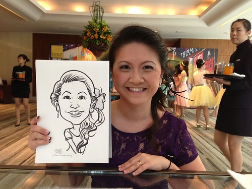 caricature live sketching for Recruit Express Dinner & Dance 2013 - 1