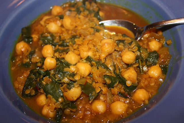 red lentil and chard stew