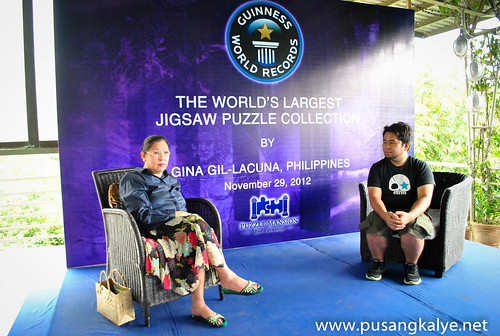 GINA GIL-LACUNA Guiness World Record Holder for the Largest Puzzle Collection