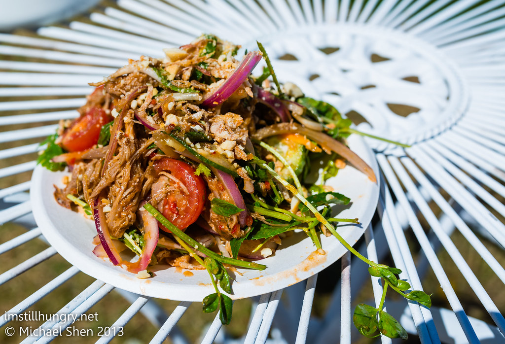 Taste of Sydney - Duck, snow pea sprouts, green mango & chilli jam salad