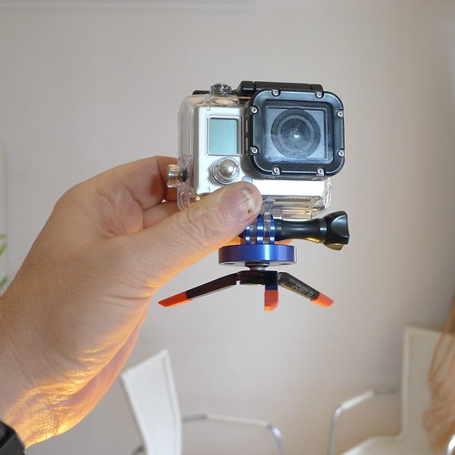 Mobile gear: Tiny tripod for Go Pro by robb montgomery