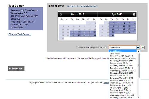 Schedule Pearson exam