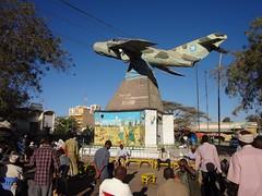 Avião MIG monumento em Hargeisa