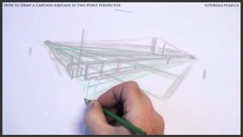 learn how to draw a cartoon airplane in two point perspective 007