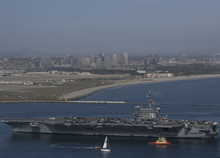 USS Ronald Reagan returns to San Diego.