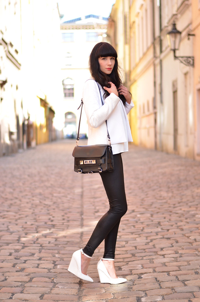 White Outfit Mango Kurt Geiger Zara in Prague 3