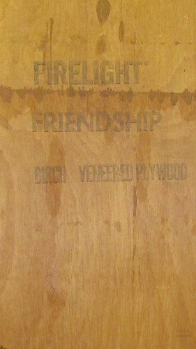 FIRELIGHT FRIENDSHIP PLYWOOD by William Keckler