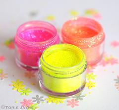 Edible neon glitter