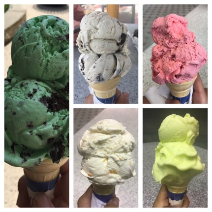 Collage of ice cream cones.