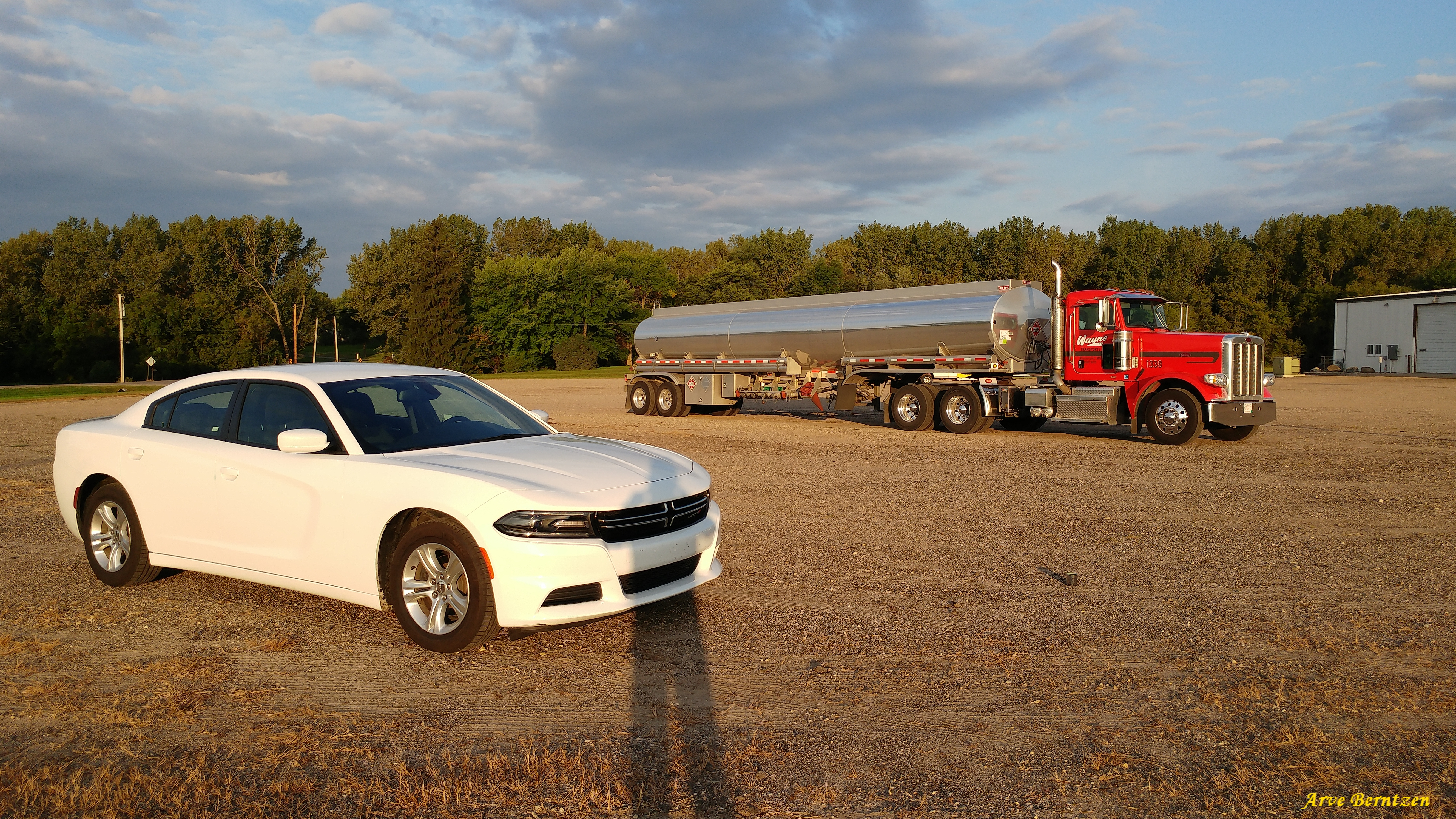 Dodge Charger and Peterbilt