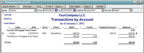 transactions by account