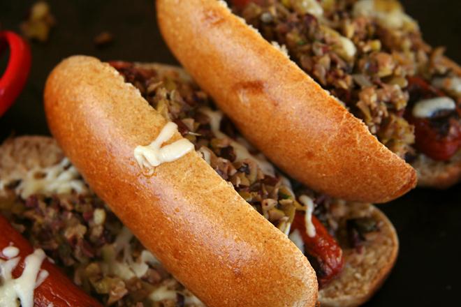 muffaletta hot dogs 5