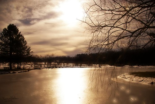 winter sun ice nature clouds landscape