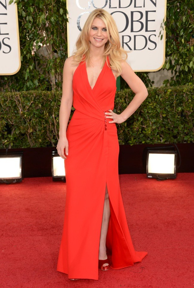 9 Claire Danes - 70th Golden Globe Awards ceremony - LA - gettyimages low res ferragamo peeptoes