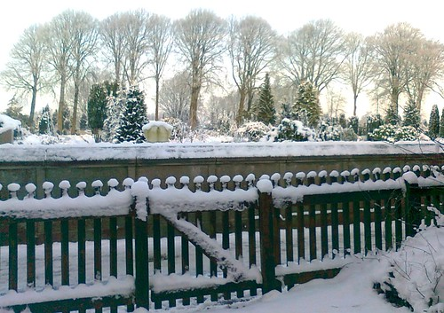 winter snow cemetery fence viborg