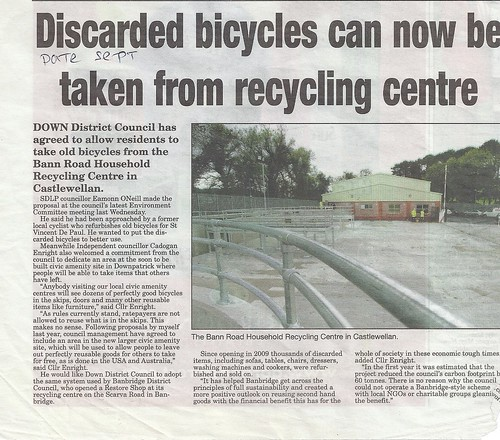 Bicycles can now be recycled by CadoganEnright