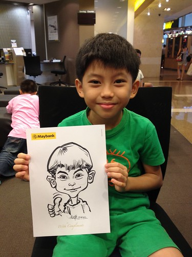 caricature live sketching for Maybank Roadshow - 14