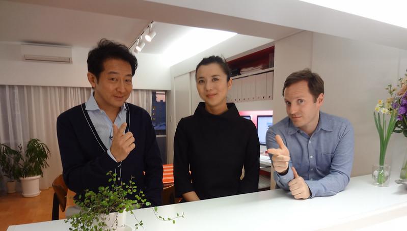 Japanese TV personality Takuro Tatsumi visits
