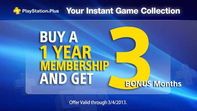 PlayStation Plus 12+3
