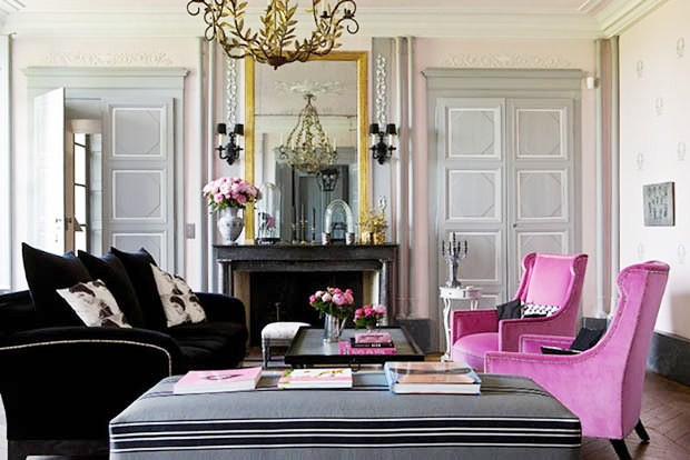 Pink Grey Living Room Fuschia Arm Chairs Velvet Fireplace Flickr Photo S