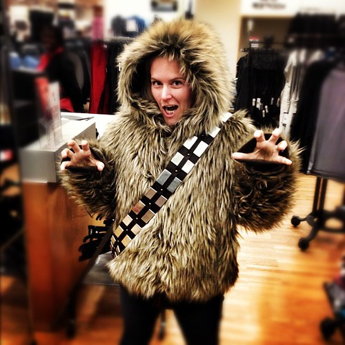We just bought this! #wookie #chewie #chewbacca #costume #awesome #starwars #geek #nerd #geeky #cosplay #rainyday #me #funny #furry #hairy #beast