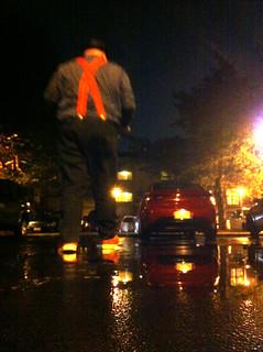 rainy night in the lot