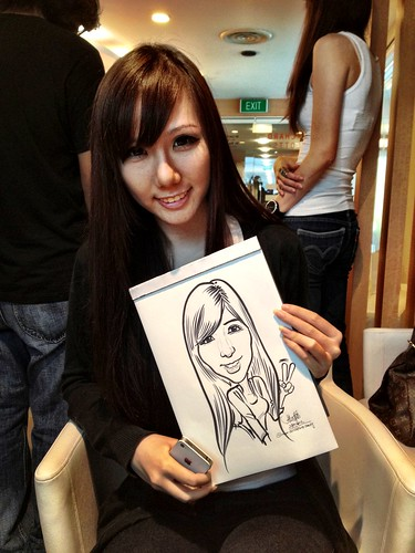 caricature live sketching for Orchard Scotts Dental for Miss Universe Singapore - 11
