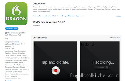 Dragon Dictation App for the iPhone and iPad