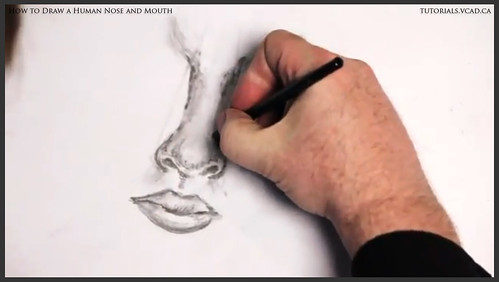 learn how to draw a human nose and mouth 014