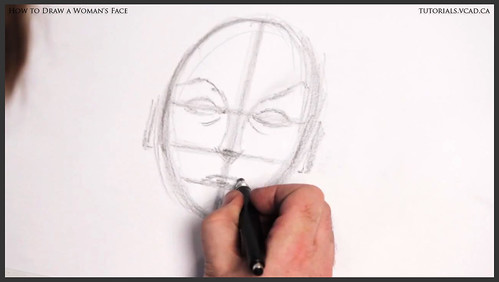 learn how to draw a womans face 008
