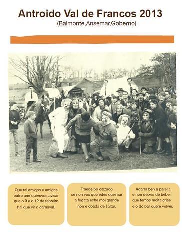 Castro de Rei 2013 - Antroido en Val de Francos - cartel