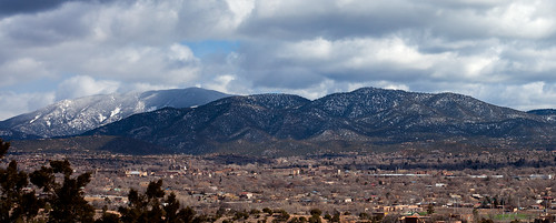 newmexico santafe downtown overview