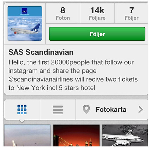 SAS Instagram fake account