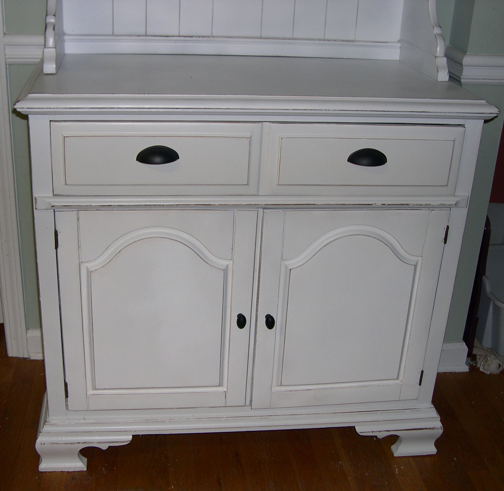 Small Kitchen Hutch With Glass Doors