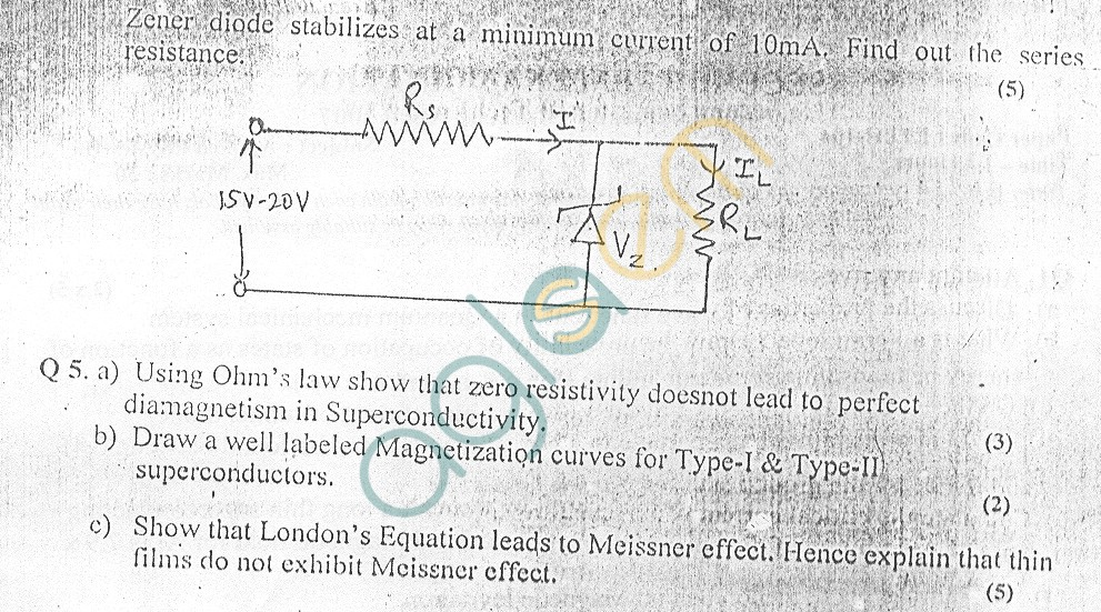 GGSIPU Question Papers Second Semester – Second Term 2007 – ETPH-104