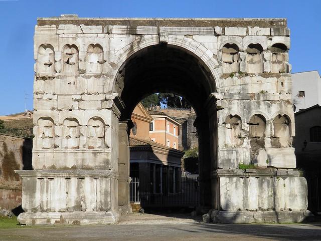 The so-called Arch of Janus in the Forum Boarium, Velabrum, Rome