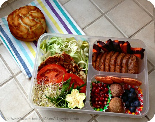 Deconstructed Tuna Burger Bento