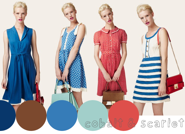 gorgeous colours from Orla Kiely's spring / summer 2013 lookbook | Emma Lamb