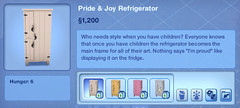 Pride and Joy Refrigerator