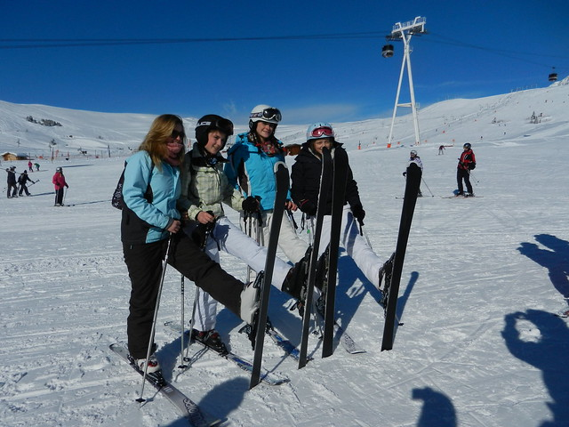 students on skis
