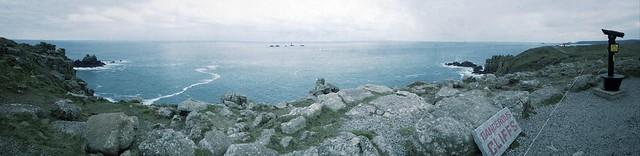 Panorama: Land's End, Cornwall.