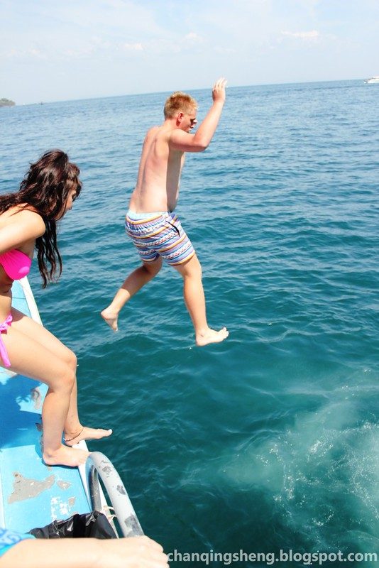 Jump into the blue sea of phi phi island