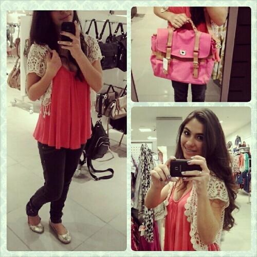 Look + comprinha da noite #bolsa #amei meu amor @kikinha_lopes  ajudou a escolher, otimo companheiro de compras :) te amo meu amor S2