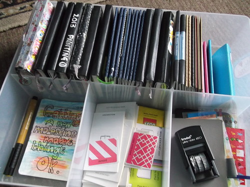 sorting out my moleskines